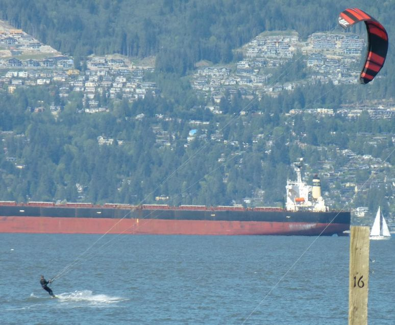 Kitesurfers - Spanish Banks, Vancouver, BC