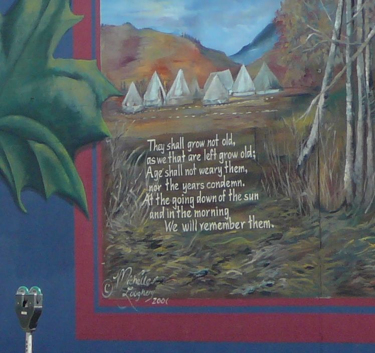 Detail - World Wars Mural - West Wall - 3203 - 32nd St. Vernon, B.C.